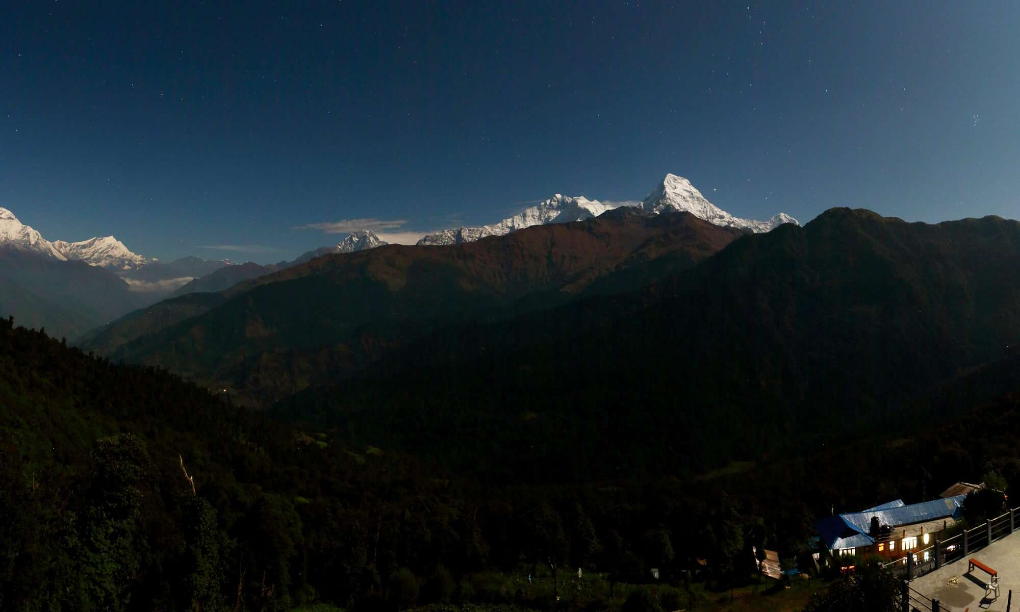 Himalayan View from Ghorepani Village