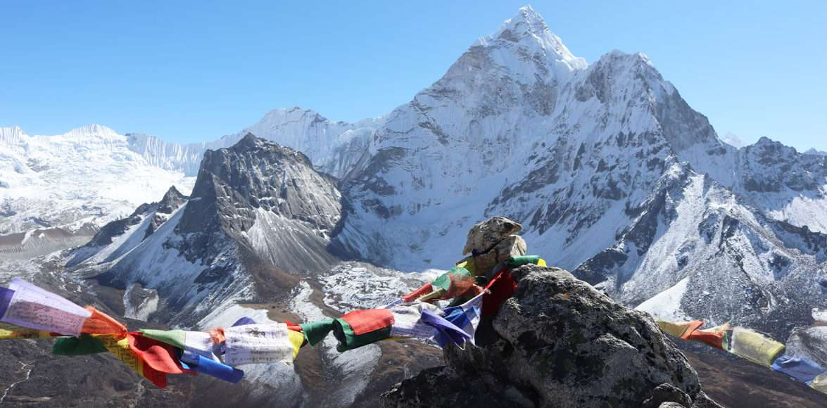 The Everest Base Camp and Khumbu Glacier