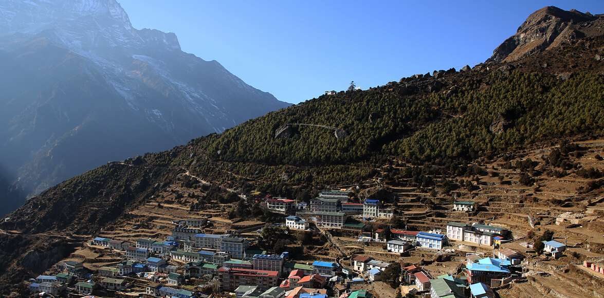 The Namche Bazaar