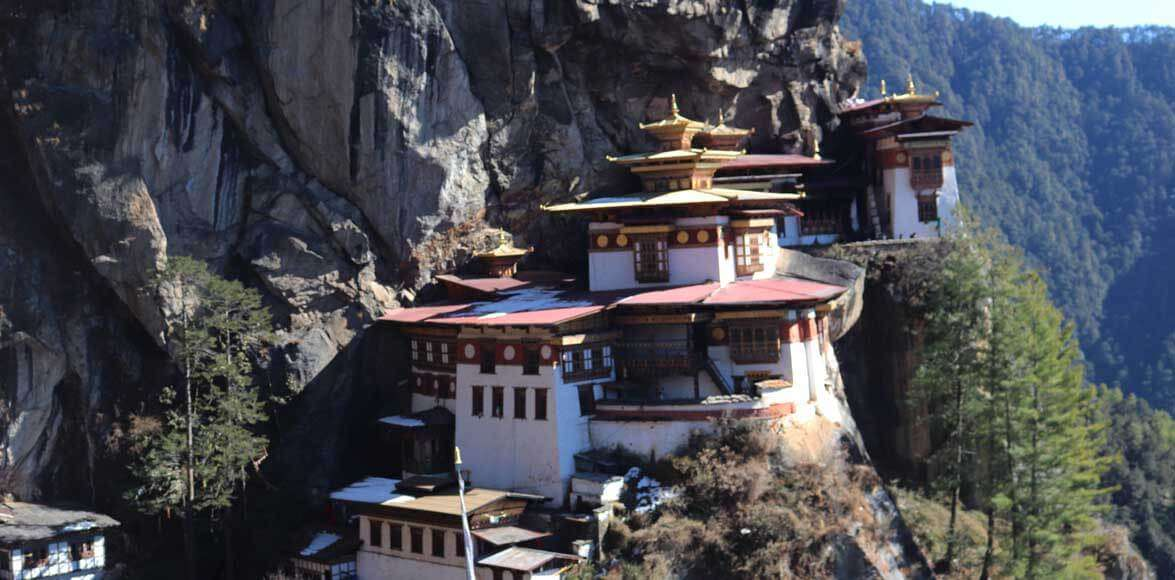Tiger nest monastery in Bhutan
