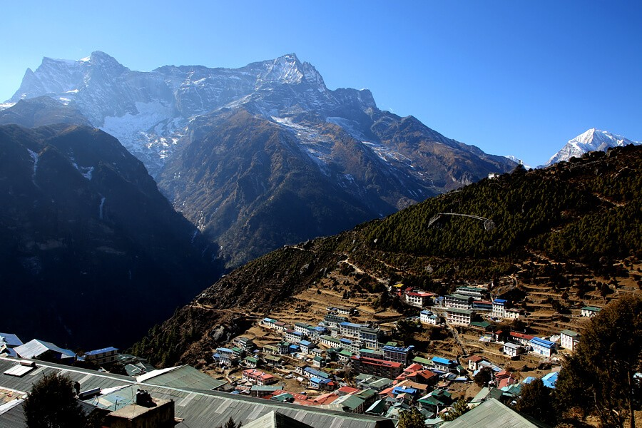 Namche Bazaar on the way to Everest