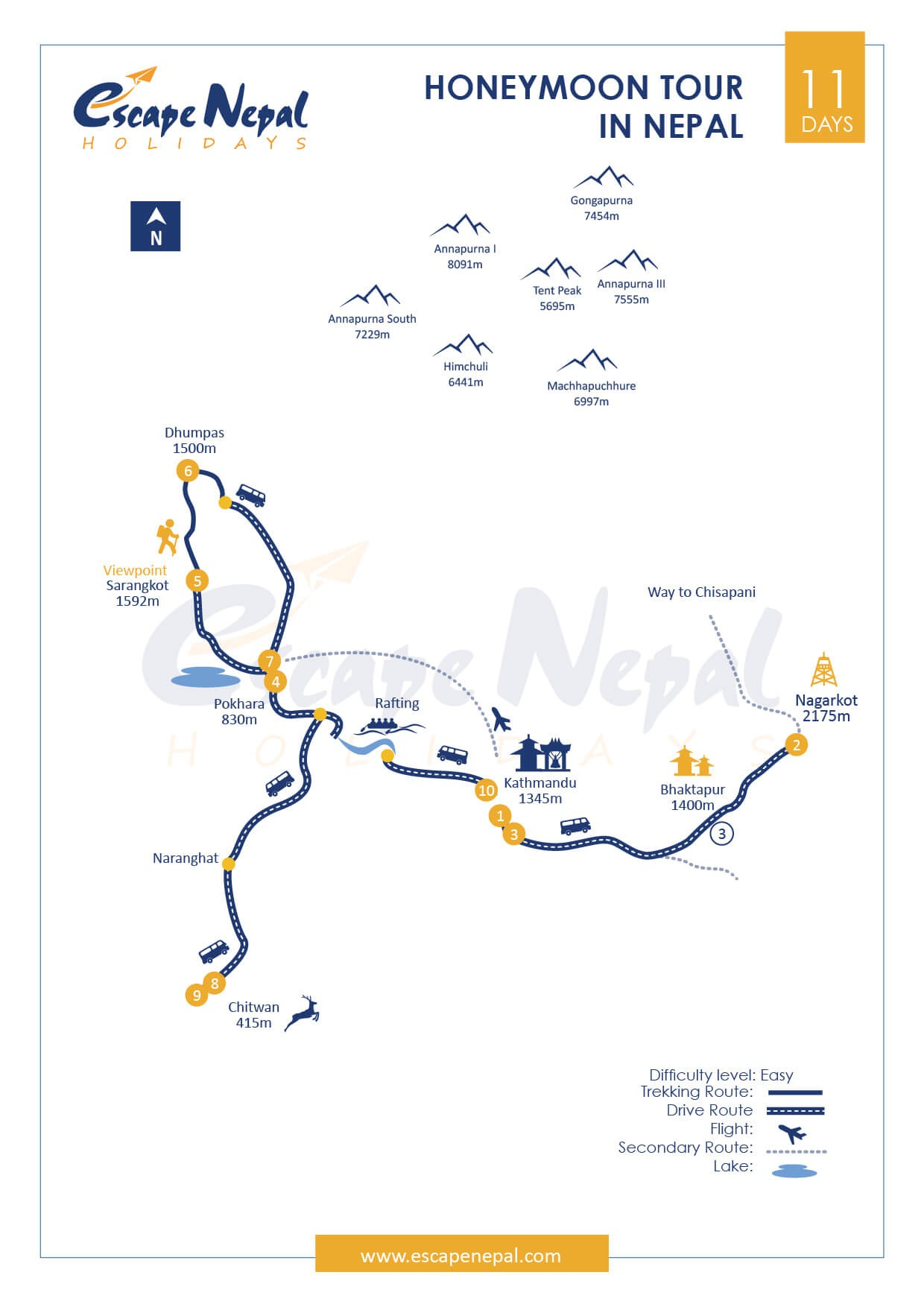 HONEYMOON IN NEPAL map